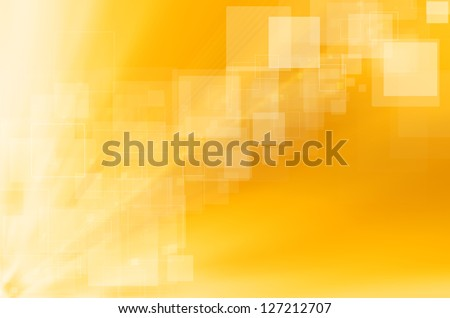 abstract yellow technology background. - stock photo