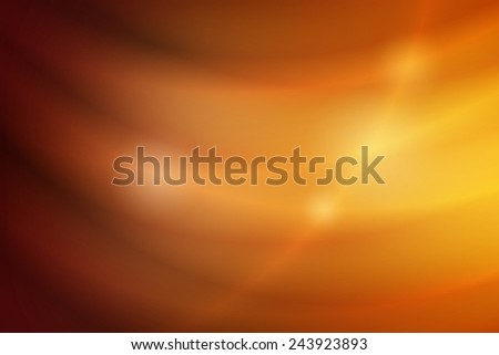 abstract yellow to dark orange gradient color with curve line - stock photo