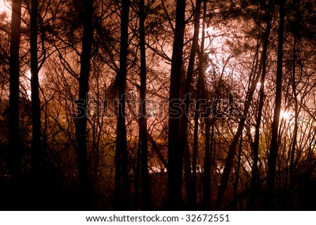abstract zombie background - stock photo