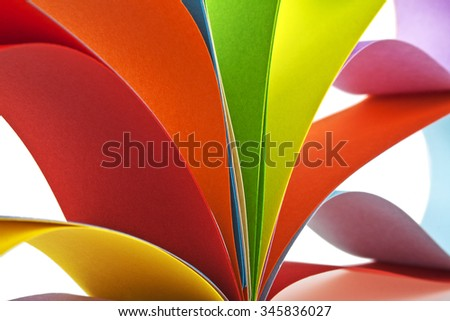 Abstraction from the colored paper - stock photo