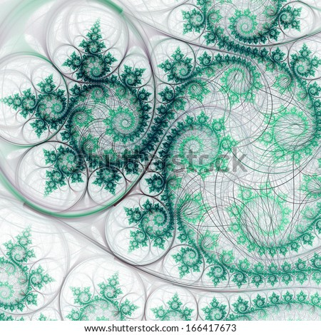 Abstraction of fractal ivy, digital artwork for creative graphic design - stock photo