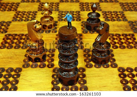 Abstraction of power in chess - stock photo