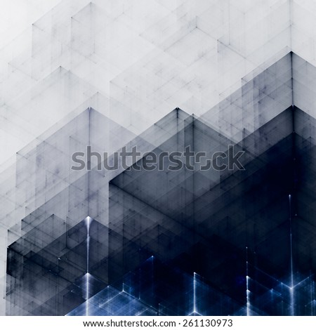 Abstracts background with transparent rectangular shapes as conceptual metaphor for modern technology, science and business. - stock photo
