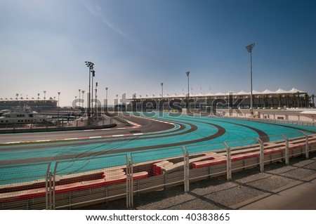 Abu Dhabi F1 Race Track - stock photo
