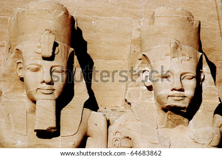 Abu simbel Egypt - stock photo