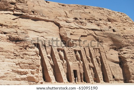 Abu Simbel - Egypt -africa - stock photo