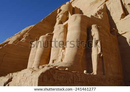 Abu Simbel Temple - Egypt - stock photo