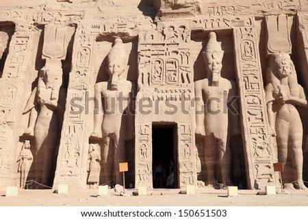 Abu Simbel temple, unesco world heritage in Egypt  - stock photo