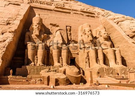 Abu Simbel Temples, Egypt - stock photo