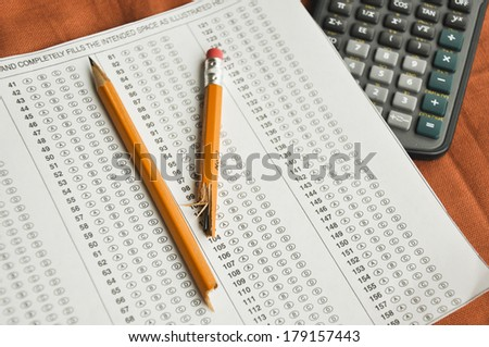 academic assessments - stock photo