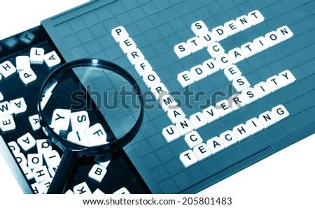 Academic concept with university keywords  - stock photo