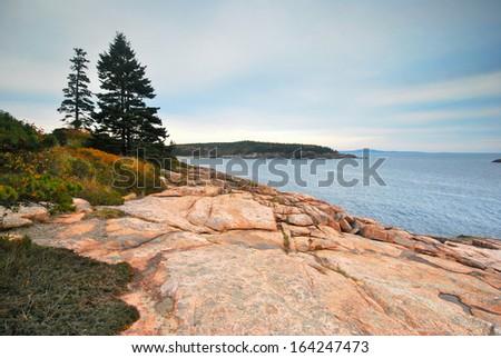 Acadia National Park on Mount Desert Island in Maine - stock photo