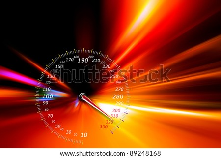 acceleration speed motion on night highway - stock photo
