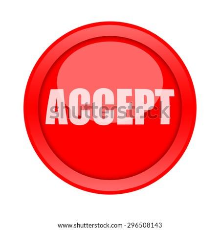 Accept button - stock photo
