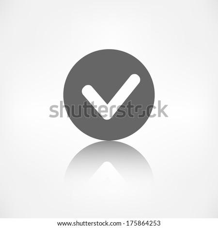 Accept icon. Yes, ok symbol. - stock photo