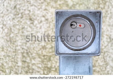 Access Control with outdoor lock - stock photo