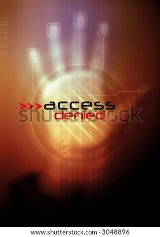 Access denied. - stock photo