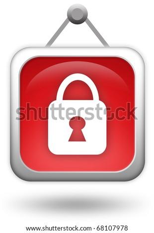 Access denied icon - stock photo