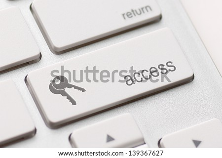 access enter key and keys icon. - stock photo