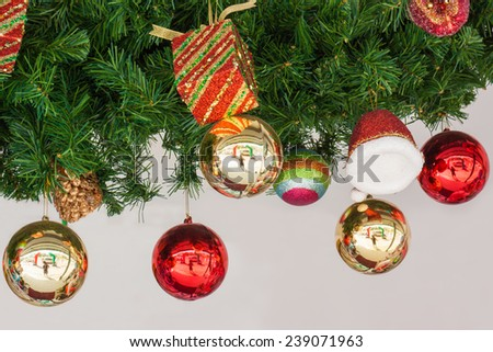 Accessories Christmas and Happy new year. - stock photo