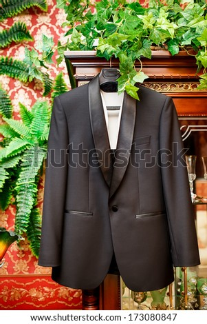 Accessories groom at wedding - stock photo