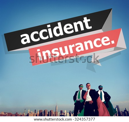 Accident Insurance Protection Damage Safety Concept - stock photo