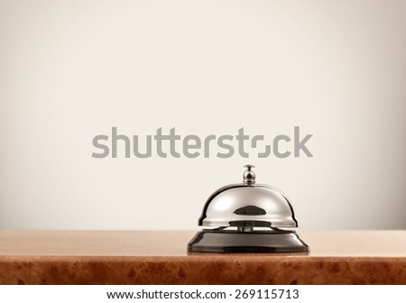 Accommodation. Service bell at the hotel - stock photo