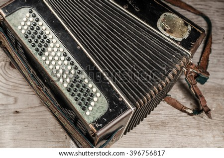 accordion - stock photo