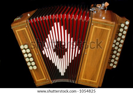 Accordion - special command to a french instrument maker - stock photo