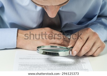 Accountant, agreement, analysis. - stock photo