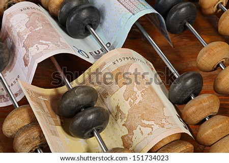Accounting. Abstract concept with euro - stock photo