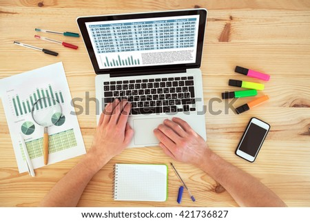 accounting and financial planning - stock photo