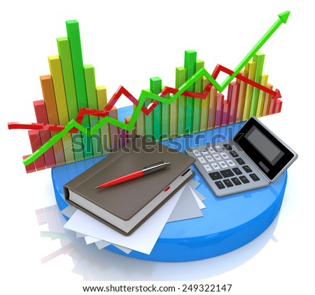 Accounting - Business calculation  - stock photo