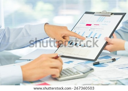 Accounting, concept, annual. - stock photo