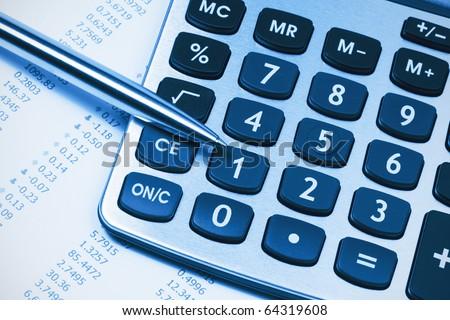 Accounting,dual tone - stock photo