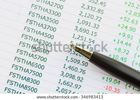 Accounting figures,Business concept. - stock photo