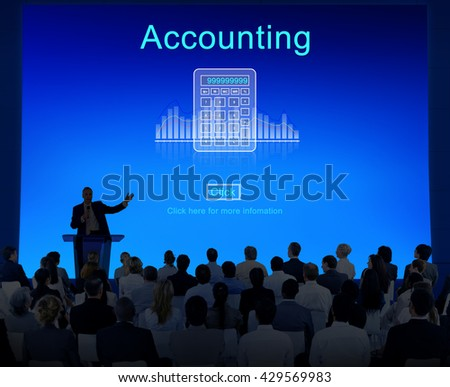 Accounting Finance Calculate Computation Concept - stock photo