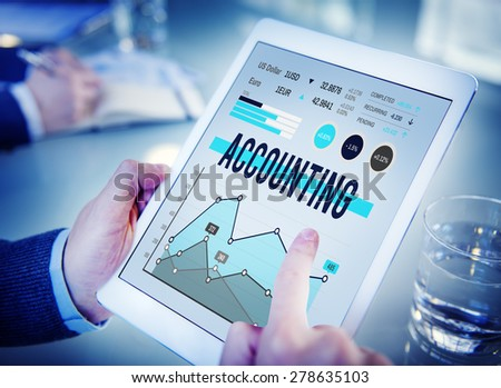 Accounting Management Finance Marketing Business Concept - stock photo