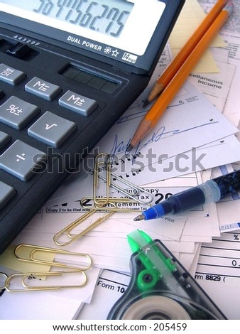 Accounting mess - stock photo