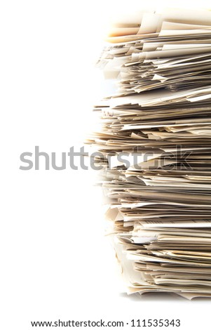 Accumulation of office work to be carried out - stock photo