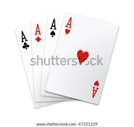 Aces square - stock photo