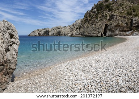 Achata beach on Karpathos island, Greece - stock photo