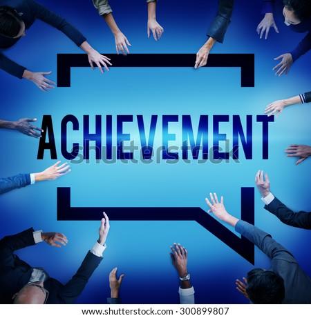 Achievement Goal Target Success Accomplishment Concept - stock photo