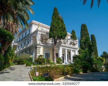 Achillion palace, Corfu island , Greece - stock photo