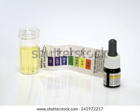 Acid acidic water test ph reagent - stock photo