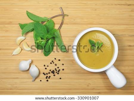 Acorn Squash Soup - stock photo