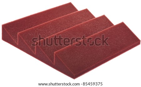 acoustic foam isolated on a white background - stock photo