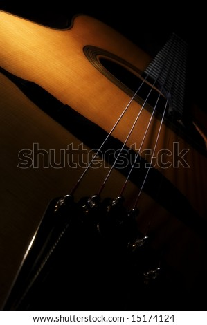 Acoustic Guitar - stock photo