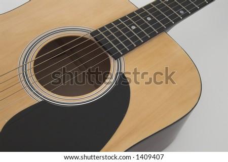 Acoustic guitar III - stock photo