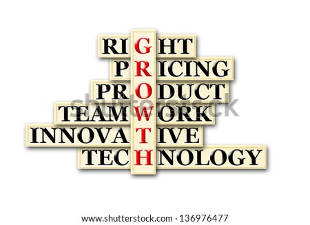 acronym concept of Growth  and other releated words - stock photo